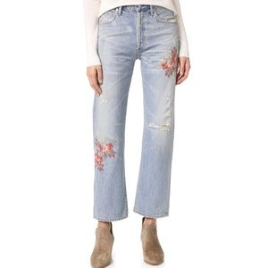CITIZENS OF HUMANITY EMBROIDERED CORA CROP JEANS
